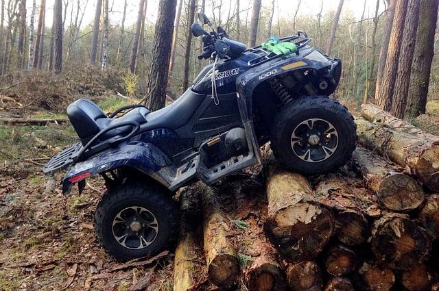 quad-atv-on-logs-atv-insurance