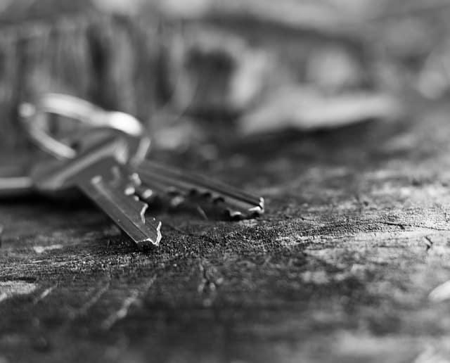 House keys outside