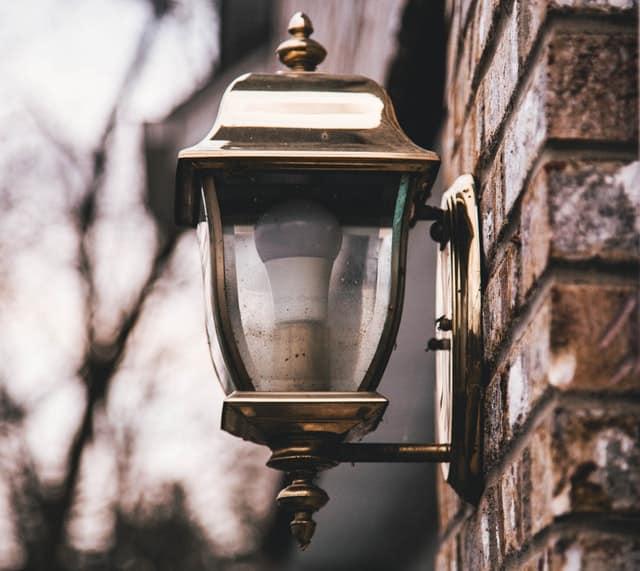 dark porch light