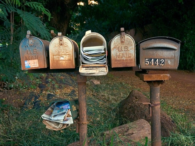 Full mailbox letters